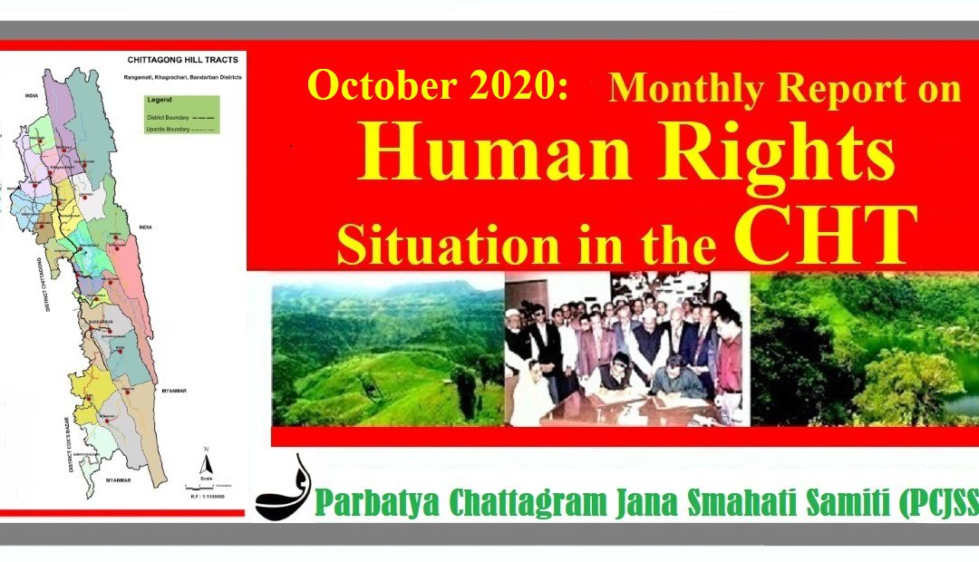 October 2020: Monthly Report on Human Rights Situation in CHT