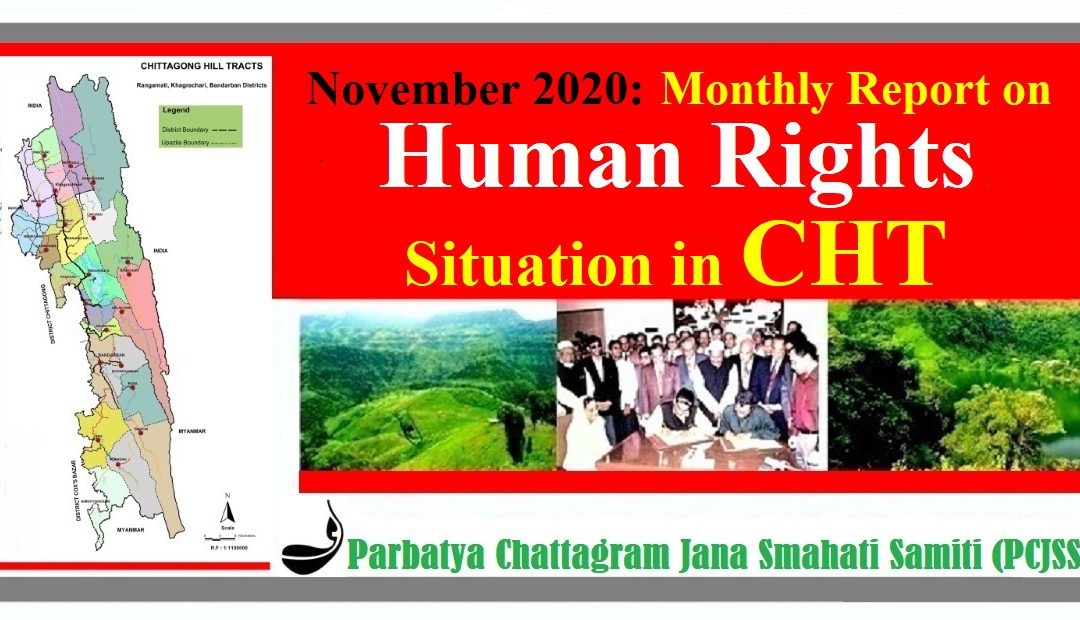 November 2020: Monthly Report on Human Rights Situation in CHT